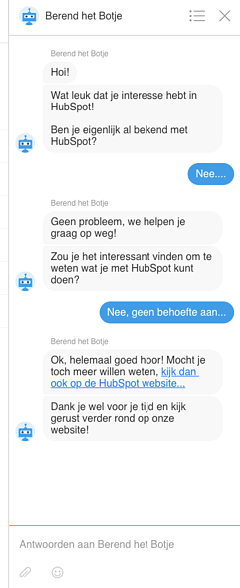 Conversational Marketing Chatverlauf