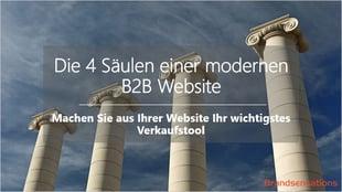 4 Säulen einer modernen B2B Website