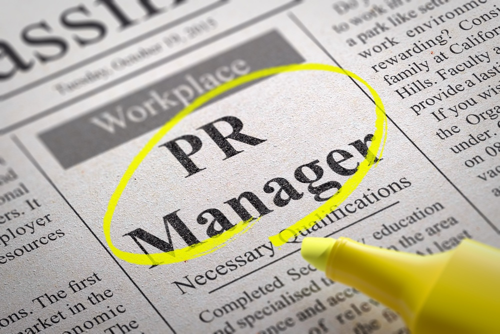 PR Manager Vacancy in Newspaper. Job Search Concept..jpeg