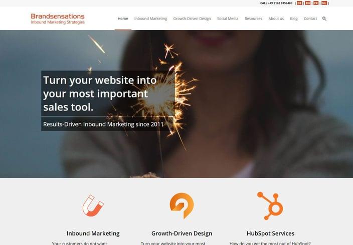 Brandsensations Inbound Marketing Website