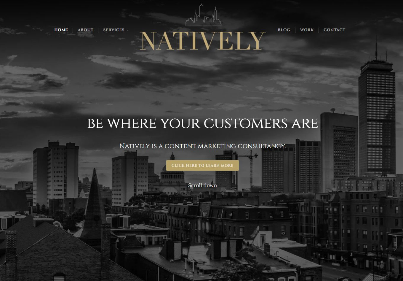 Natively Content Marketing Website