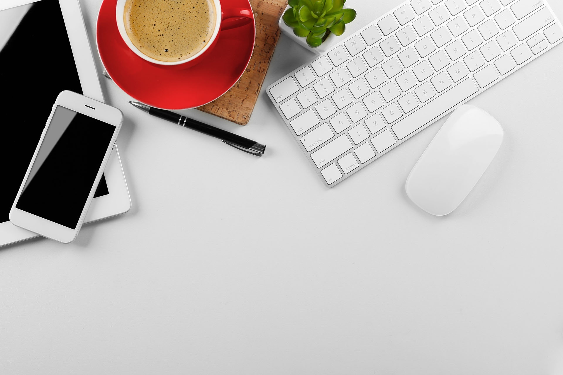 Startup Interior: Laptop, Phone and Coffee
